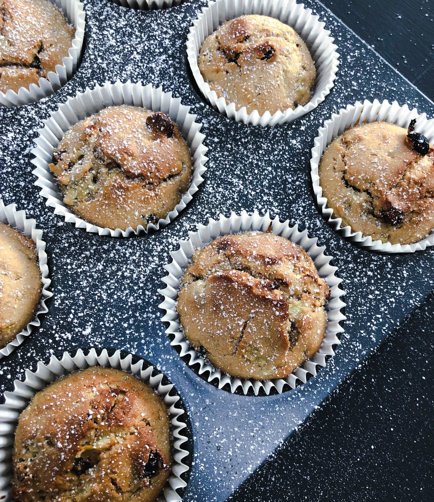 Courgette and Currant Muffins